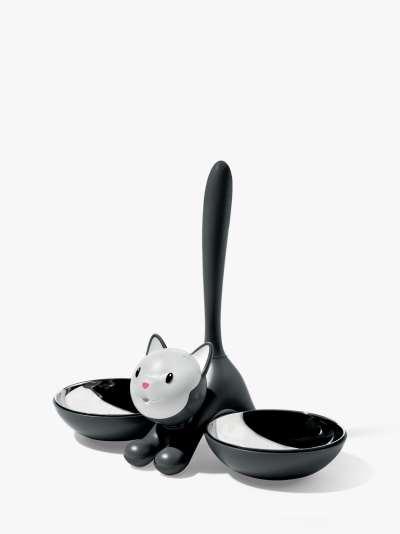 Alessi Tigrito Cat Bowl, Black