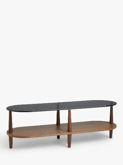 ANYDAY John Lewis & Partners Apex TV Stand for TVs up to 60, Walnut