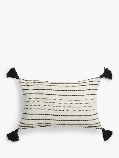 ANYDAY John Lewis & Partners Fusion Tassel Cushion Cover