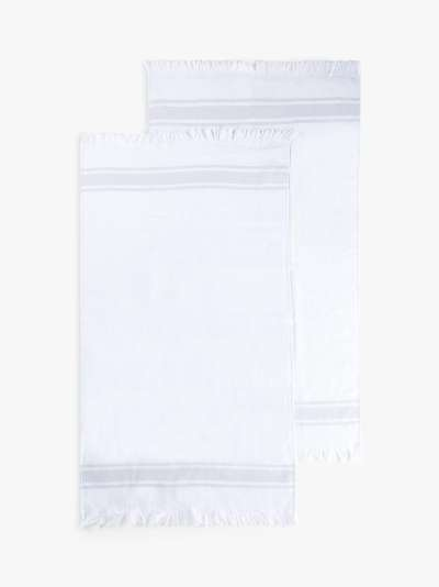 ANYDAY John Lewis & Partners Hammam Hand Towels, Pack of 2, Light Grey