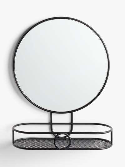 ANYDAY John Lewis & Partners Round Bathroom Mirror with Shelf