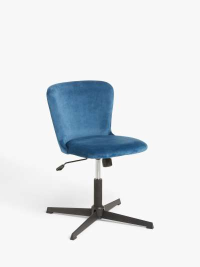ANYDAY John Lewis & Partners Scallop Velvet Office Chair