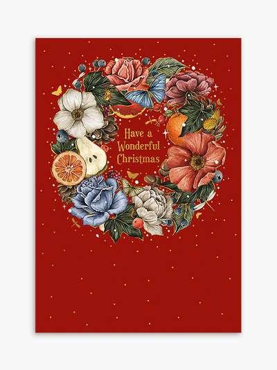 Art File Wreath Wonderful Christmas Card