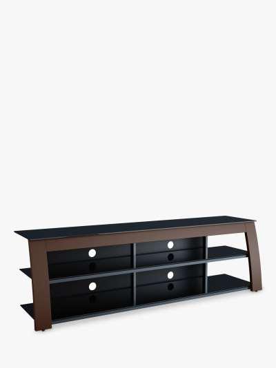 AVF Kivu 1800 TV Stand for TVs up to 90, Walnut & Black Glass