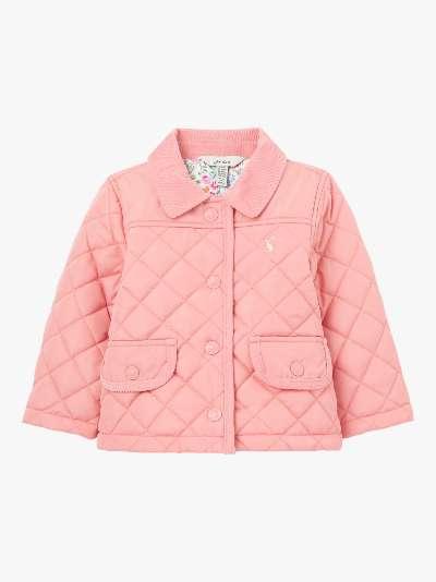 Baby Joule Mabel Quilt Coat, Pink