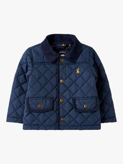 Baby Joule Milford Quilt Coat, Navy