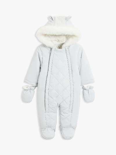 John Lewis & Partners Baby Quilt Panel Snowsuit