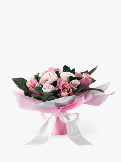 Babyblooms Baby Clothes Bouquet, Light Pink