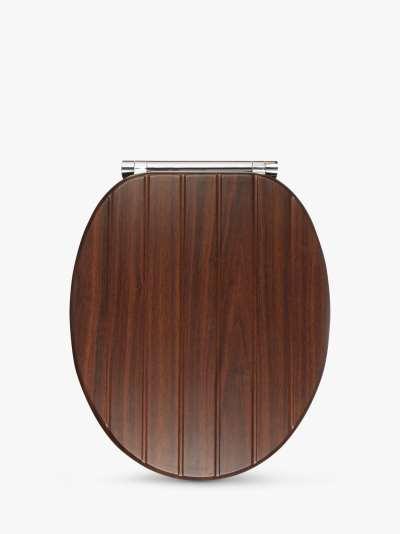 John Lewis & Partners Bali Antibacterial Soft Close Toilet Seat, FSC-Certified (MDF), Brown