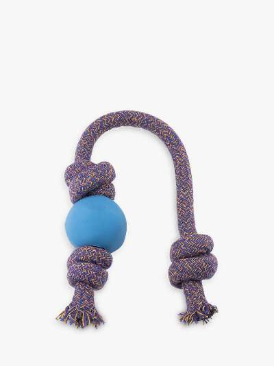 Beco Pets Natural Rubber Ball on Rope Dog Toy