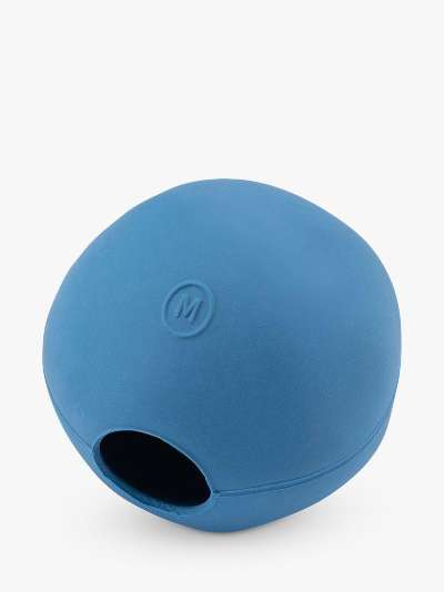 Beco Pets Natural Rubber Blue Ball Dog Toy