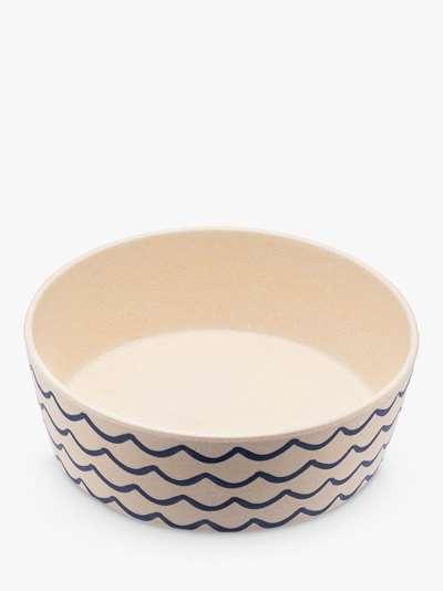 Beco Pets Bamboo Waves Dog Water & Food Bowl