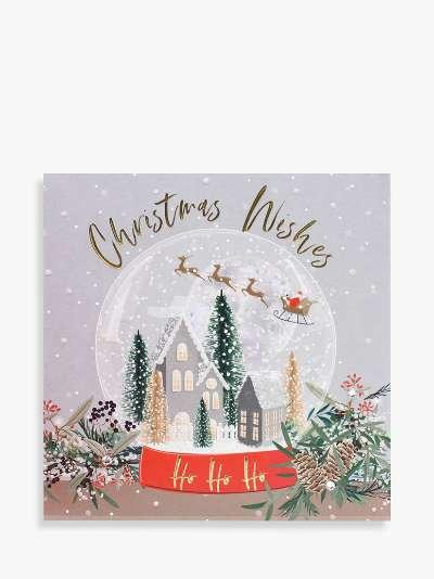 Belly Button Designs Snow Globe Christmas Card