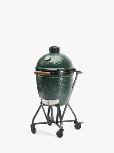 Big Green Egg Large Egg BBQ with IntEGGrated Nest Bundle, ConvEGGtor & Cover