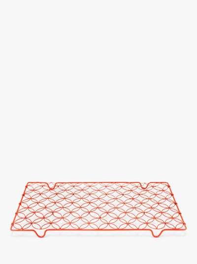 BlissHome Nadiya Hussain Rectangular Cooling Rack, 45cm, Red