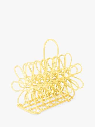 BlissHome Nadiya Hussain Wire Toast / Letter Rack, Yellow