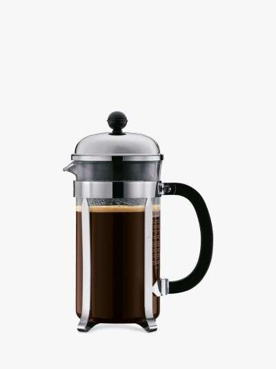 BODUM Chambord 8 Cup Caffetteria Coffee Maker, 1L, Silver