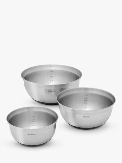 Brabantia Stainless Steel Nesting Mixing Bowls, Set of 3