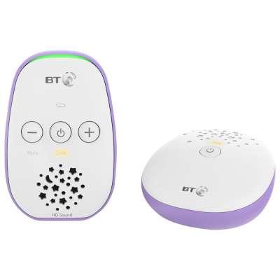 BT Audio Baby Monitor 400, White/Purple