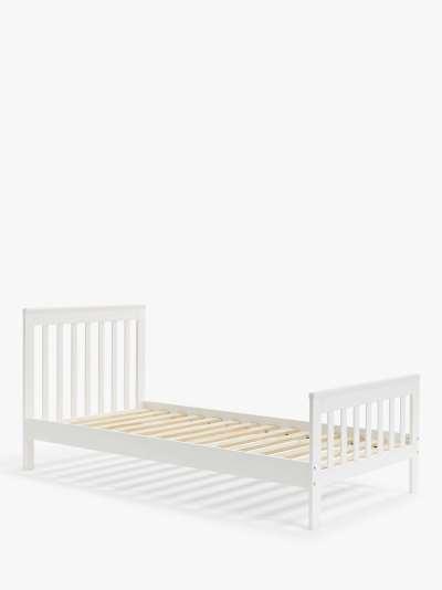 John Lewis & Partners Charlotte Single Bed, White