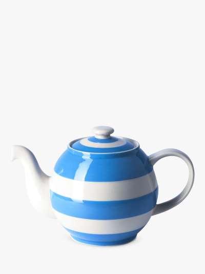 Cornishware Betty Striped Small Teapot, 500ml, Blue/White