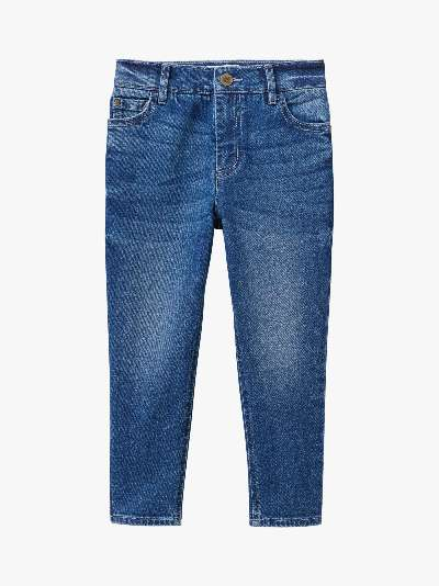 Crew Clothing Girls' Skinny Fit Mid Wash Jeans, Blue
