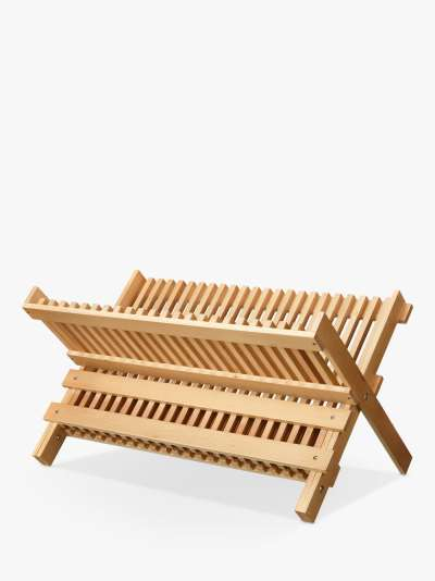 John Lewis & Partners Modern Country Beech Dish Drainer, Natural