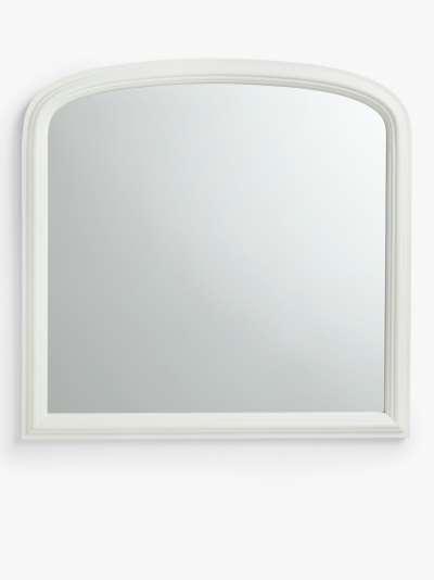 Croft Collection Overmantel Mirror, 90 x 92cm, FSC-Certified (Paulownia Wood), Cream