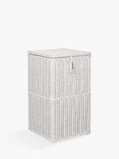John Lewis & Partners Rattan Square Laundry Basket