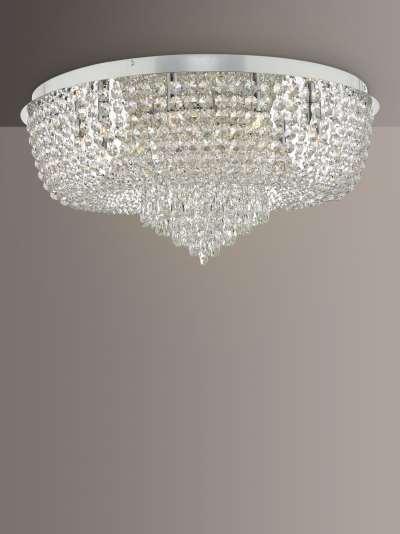 Där Eitan Semi Flush Large Chandelier Ceiling Light, Clear