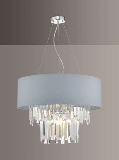 Där Halle Crystal Chandelier Ceiling Light, Clear/Grey