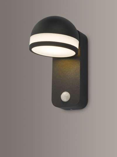 Där Tien LED PIR Sensor Outdoor Wall Light, Anthracite