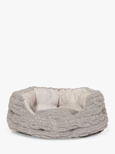 Danish Design Bobble Dog Bed, Soft Pewter