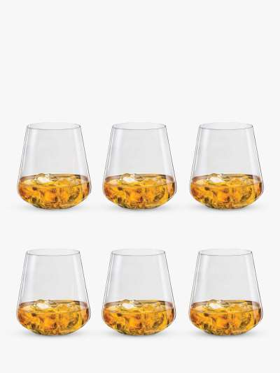 Dartington Crystal Simplicity Red Wine Glasses, 350ml, Set of 6, Clear