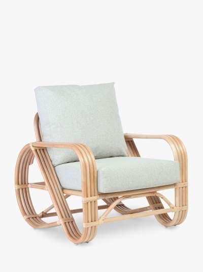 Desser Pretzel Rattan Lounge Chair, Natural