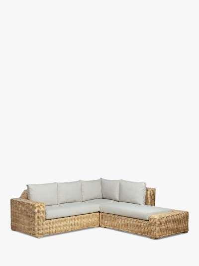 Desser Raffles Rattan 5-Seater Modular Corner Sofa Set, Natural