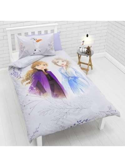 Disney Frozen 2 Reversible Cotton Duvet Cover and Pillowcase Set, Single, Multi