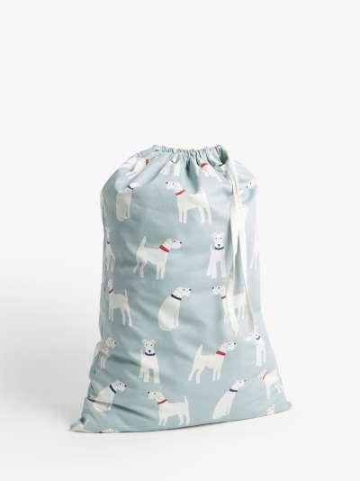 John Lewis & Partners Dogs Laundry Bag