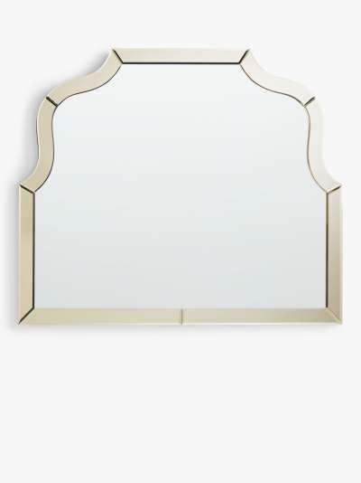 John Lewis & Partners Gold Edge Overmantle Mirror, 85 x 100cm, Gold