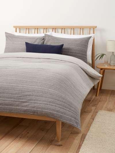 John Lewis & Partners Emery Brushed Cotton Duvet Cover Set