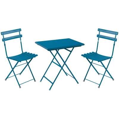 EMU Arc En Ciel Steel Garden Bistro Table and Chairs Set