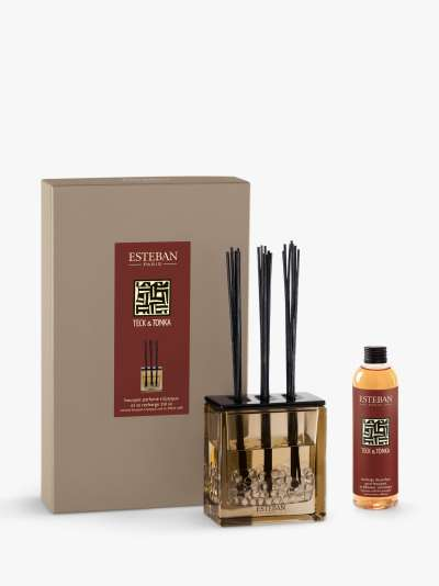 Esteban Teck & Tonka Decorated Scented Bouquet Reed Diffuser, 250 ml