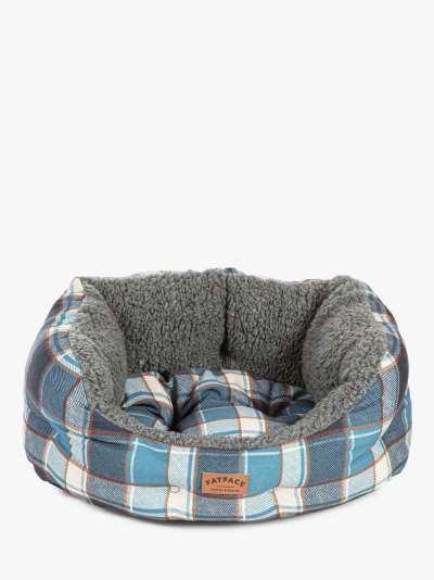 FatFace Fleece Check Deluxe Slumber Dog Bed