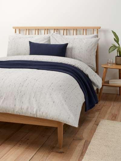 John Lewis & Partners Fitz Brushed Cotton Duvet Cover Set