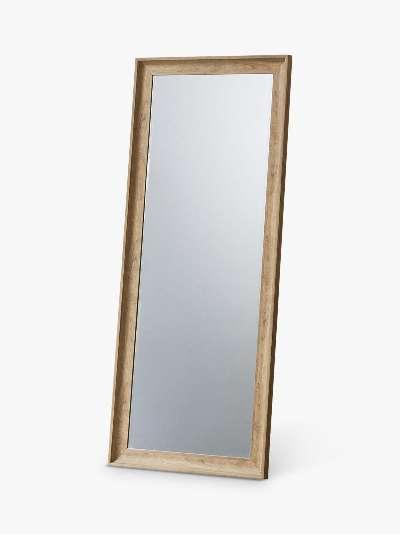 Fraser Rectangular Wood-Effect Frame Leaner Mirror, 152 x 63.5cm, Oak