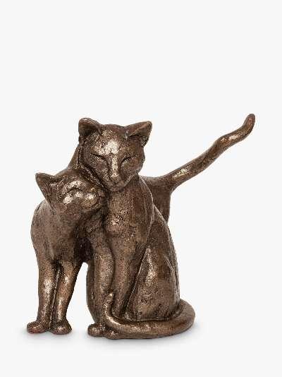 Frith Sculpture Making Friends Cat Sculpture by Paul Jenkins, H15cm, Bronze