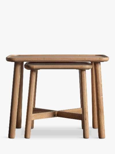 Gallery Direct Kingham Nest Of 2 Tables, Oak