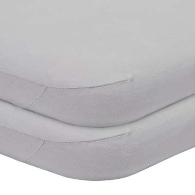 John Lewis & Partners GOTS Organic Cotton Fitted Moses Basket Sheet, Pack of 2, 33 x 76cm