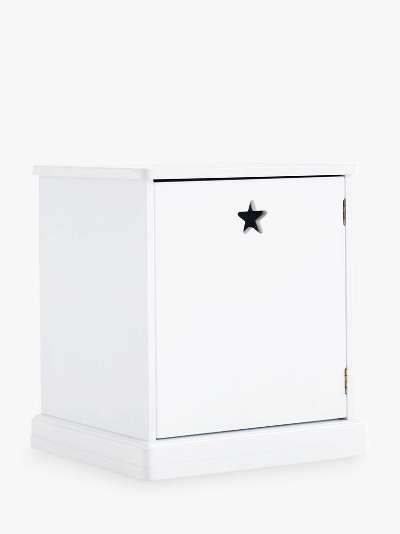 Great Little Trading Co Star Bright Bedside Table, White