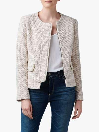 Helene For Denim Wardrobe Judy Fringe Detail Jacket, Pink